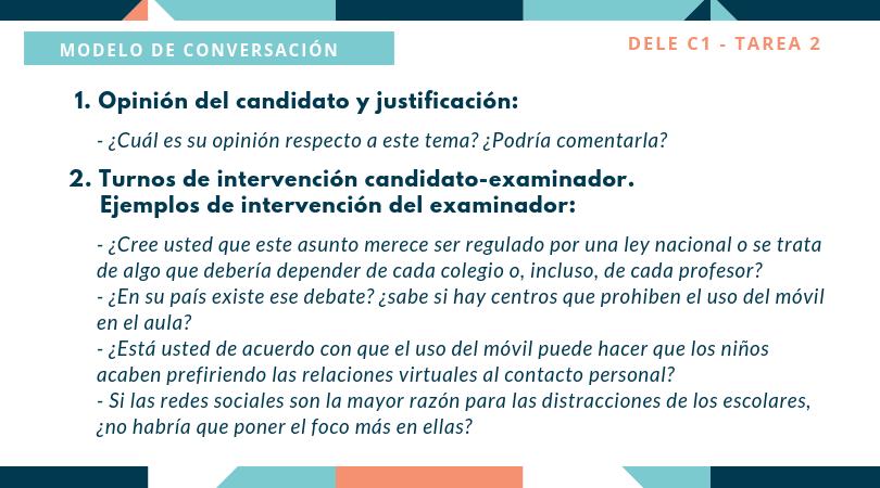 DELE C1 - Tarea 2 modelo de conversación